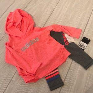 Adidas long sleeve hoodie and pant set